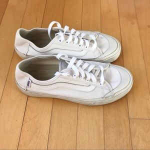 White vans with new shoelaces